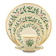 Lenox® Holiday™ Dinnerware Collection  sc 1 st  Bed Bath \u0026 Beyond & Holiday Dinnerware | Christmas \u0026 Thanksgiving Dinner Sets | Bed Bath ...
