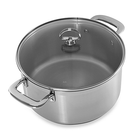chantal induction 21 steel 6 quart covered casserole. Black Bedroom Furniture Sets. Home Design Ideas