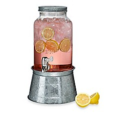 image of artland masonware 15gallon beverage server with galvanized steel stand - Beverage Dispenser With Stand