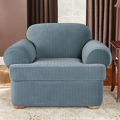Buy Sure Fit Stretch Pinstripe 2 Piece T Cushion Chair