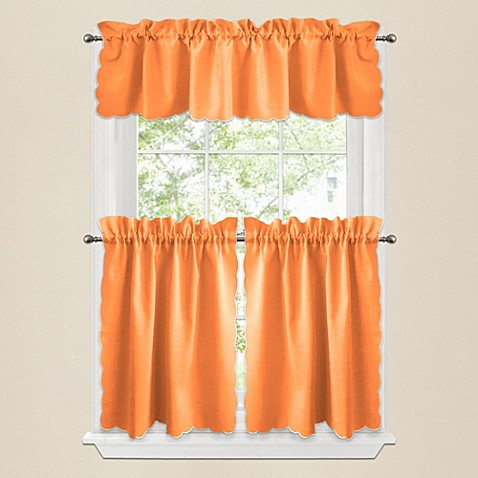 Buy victoria 36 inch window curtain tier pair in orange from bed bath beyond for 36 inch bathroom window curtains