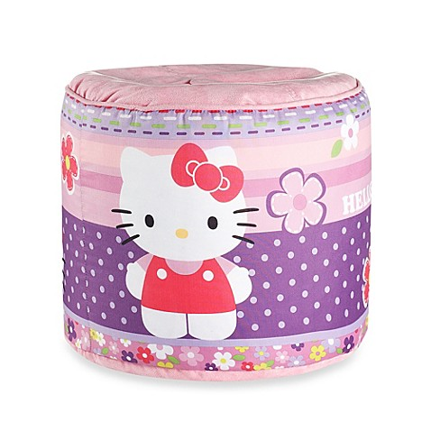 hello kitty bedding and bath collection hello kitty ottoman from buy buy baby. Black Bedroom Furniture Sets. Home Design Ideas
