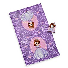 Image Of Disney Sofia The First Bath Towel And Wash Mitt Set