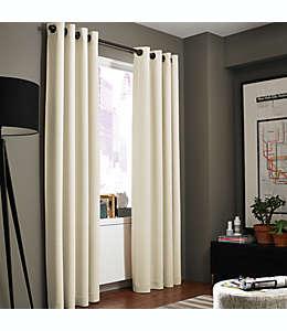 Cortina texturizada de poliéster Kenneth Cole Reaction Home Gotham® con ojales de 2.13 m color blanco tiza