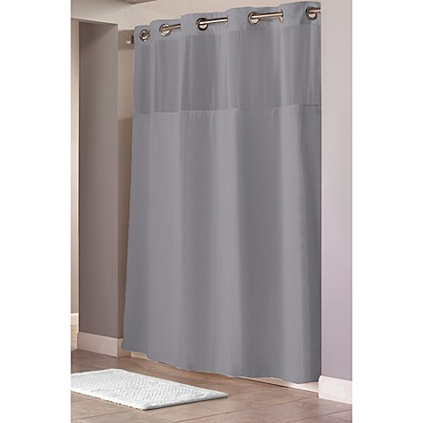 Hookless® Waffle 71-Inch x 86-Inch Long Fabric Shower Curtain in ...