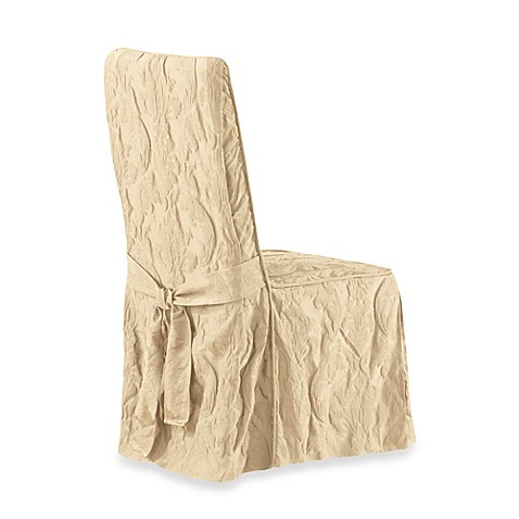Buy Sure Fit 174 Matelasse Damask Long Dining Chair Cover In