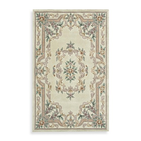 Rugs America New Aubusson Rug In Ivory