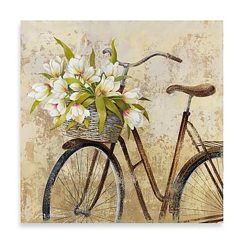 Fabrice de Villeneuve Studio Ride to Flower Market Wall Art - Bed ...