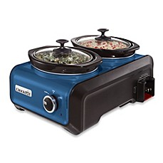 image of Crock-Pot® 1-Quart Oval Hook Up™ Connectable Entertaining System in Metallic Blue