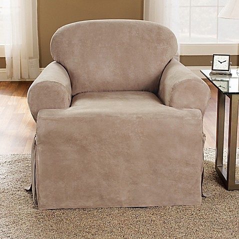 Buy Sure Fit Soft Suede T Cushion Chair Slipcover In