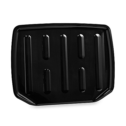 buy large drainer tray in black from bed bath beyond. Black Bedroom Furniture Sets. Home Design Ideas