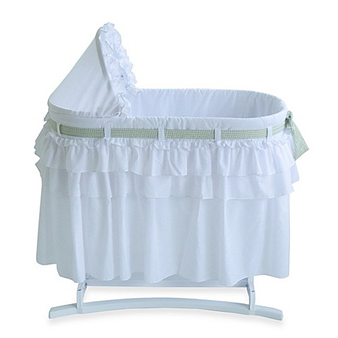 Lamont Home™ Good Night Baby Bassinet in White with Full Skirt
