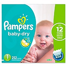 image of Pampers® Baby Dry™ 252-Count Size 1 Economy Pack Plus Disposable Diapers