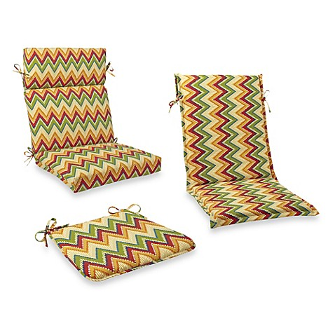 Outdoor seat cushion collection in zig zag bed bath beyond for Bed bath beyond gel seat cushion