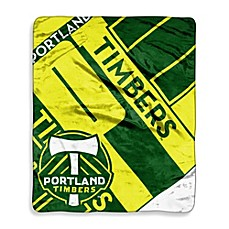 image of Portland Timbers Super-Plush Raschel Throw Blanket
