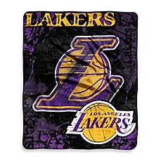 image of NBA Los Angeles Lakers Super-Plush Raschel Throw Blanket