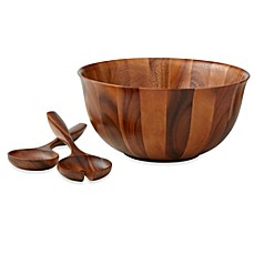 image of B. Smith 3-Piece Wood Salad Server Set
