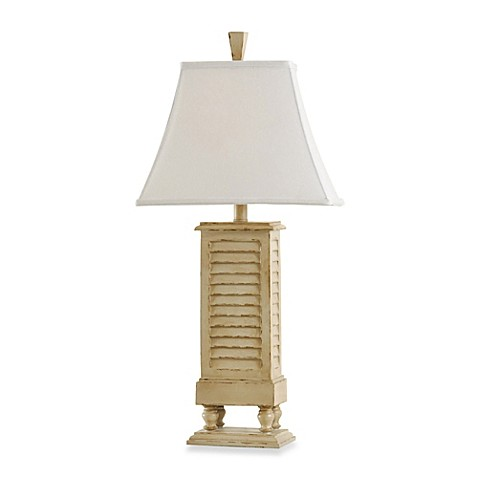 30 inch coastal shutter resin table lamp in ivory bed bath beyond 30 inch coastal shutter resin table lamp in ivory aloadofball Choice Image