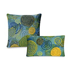 image of Liora Manne Outdoor Throw  Pillow Collection in Graffiti Swirl
