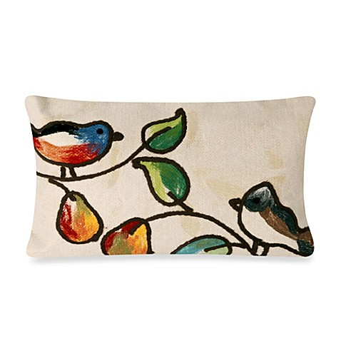 Throw Pillows On The Bed Song : Buy Liora Manne Oblong Outdoor Throw Pillow in Song Birds Cream from Bed Bath & Beyond