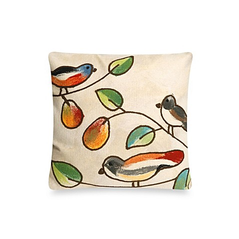 Buy Liora Manne 20-Inch Square Outdoor Throw Pillow in Song Birds Cream from Bed Bath & Beyond