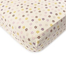 image of Baby's First by Nemcor Plum Owl Meadow Crib Sheet
