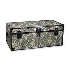 image of mercury luggage 30inch storage footlocker in camouflage