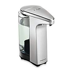 image of simplehuman® Compact Sensor Pump Soap Dispenser with Sample Soap