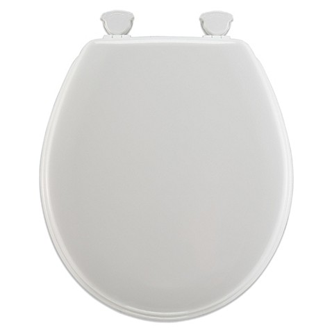 Mayfair Round Molded Wood Toilet Seat With Plastic Hinge