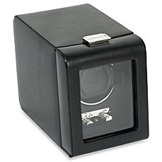 image of Wolf Designs® Module 2.1 Heritage Single Watch Winder with Black Cover