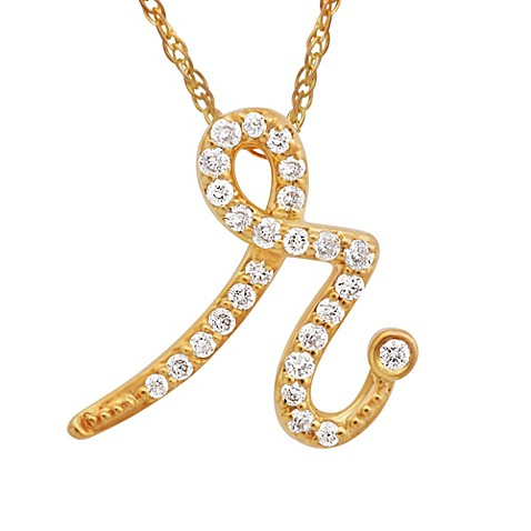 buy violet and sienna 14k yellow gold 11 cttw diamond With diamond letter r necklace
