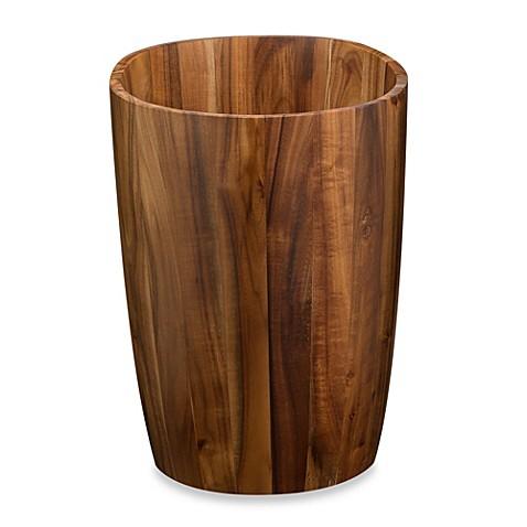 Buy acacia vanity wastebasket from bed bath beyond for Bathroom wastebasket