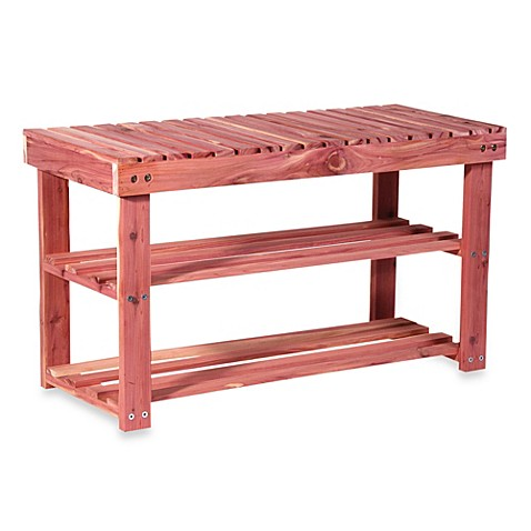 Cedar Fresh Two-Tier Shoe Rack & Seat Bench