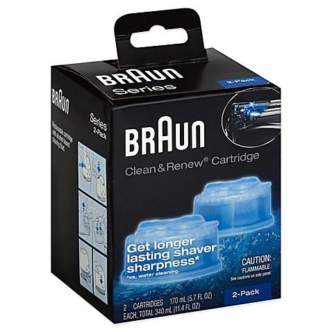 braun clean renew refill cartridges set of 2 bed. Black Bedroom Furniture Sets. Home Design Ideas