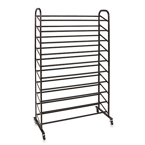 50 Pair Shoe Rack In Bronze