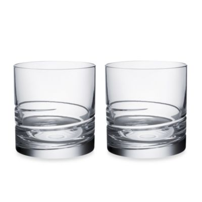 image of Orrefors Swerve Double Old Fashioned Glasses (Set of 2)