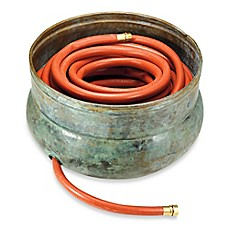 image of Good Directions Sonoma Brass Hose Pot in Blue Verde Finish