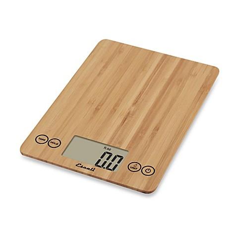 Escali 174 Bamboo Arti 15 Pound Food Scale Bed Bath Amp Beyond