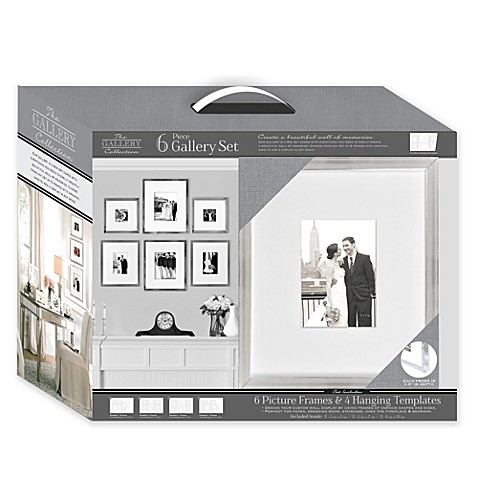 matted silver 6 piece frame gallery set bed bath beyond