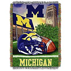 image of University of Michigan Tapestry Throw Blanket