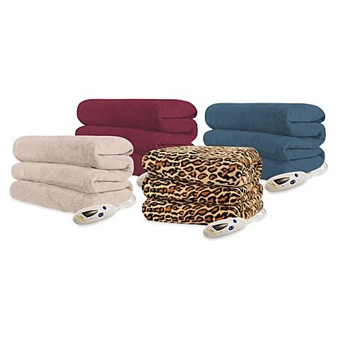Biddeford Blankets 174 Micro Plush Heated Throw Blanket Bed