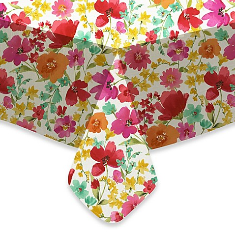 Image Of Victoria Gardens Vinyl Tablecloth