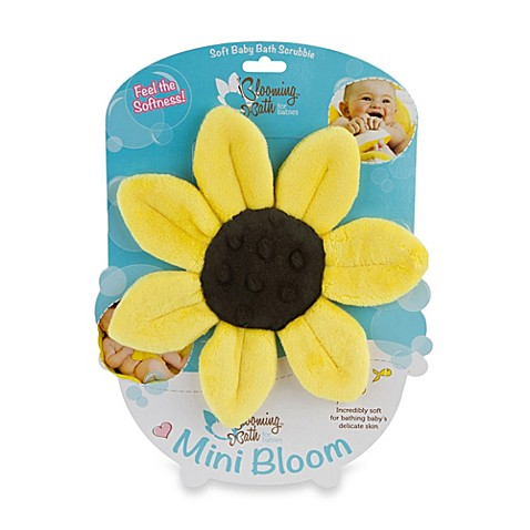 Blooming Bath Mini Bloom Scrubbie In Canary Yellow Bed
