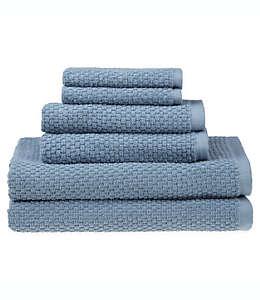 Set de toallas de algodón SALT™ Quick Dry color azul mineral