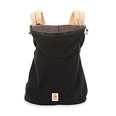 image of ergobaby winter weather cover in black - Carrier Cover