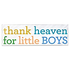 image of About Face Designs Thank Heaven for Little Boys Plaque