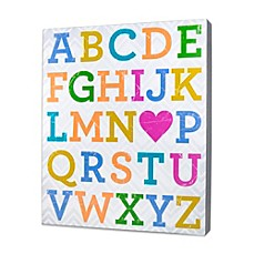 image of About Face Designs Alphabet Plaque