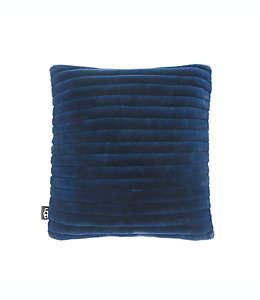 Cojín afelpado UGG® color azul marino