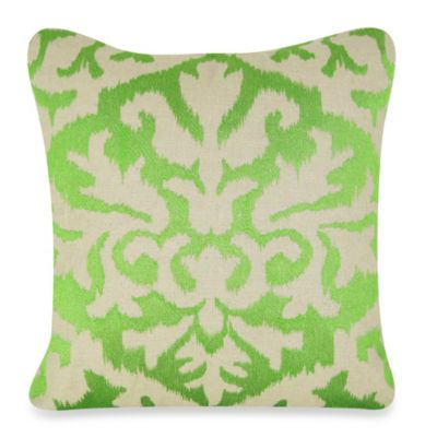 Green Ikat Throw Pillow : Buy Ikat Detail Square Throw Pillow in Green from Bed Bath & Beyond