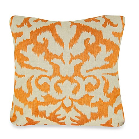Bed Bath And Beyond Orange Throw Pillows : Buy Ikat Detail Square Throw Pillow in Orange from Bed Bath & Beyond